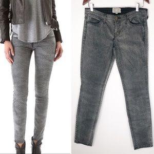 Current Elliott Mesh Print Skinny Ankle Jeans